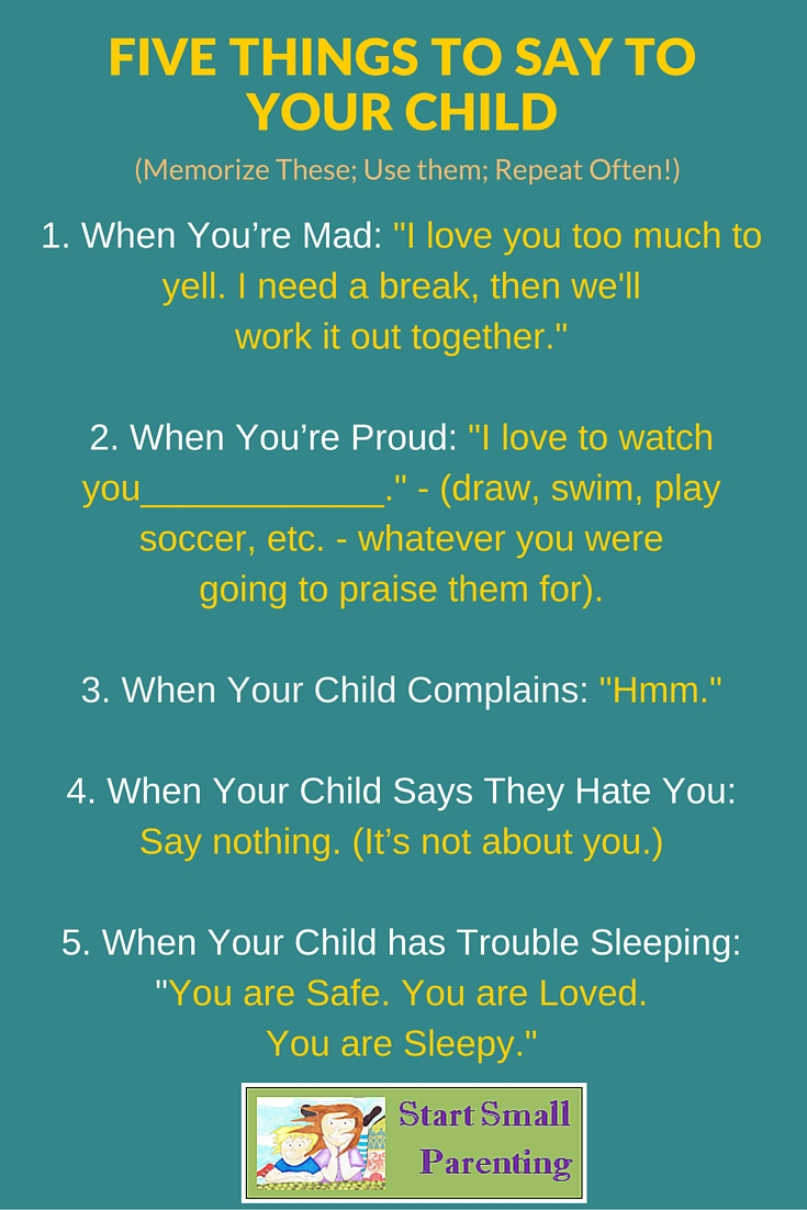 What NOT to say to the child 24